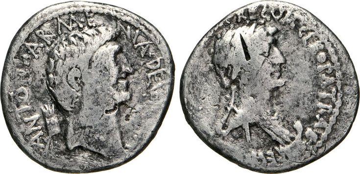 NumisBids: Numismatica Varesi s.a.s. Auction 65, Lot 132 : MARC'ANTONIO e CLEOPATRA (32-31 a.C.) Denario. B. 95 Syd. 1210 ...