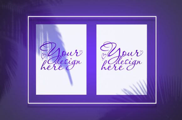 Download Mockup Poster In A Violet Neon Frame Graphic By Natalia Arkusha Creative Fabrica Free