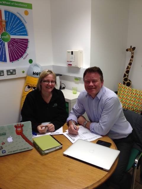 Great meeting this afternoon with Mark Jennings Business Coach Leicestershire