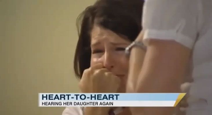 Watch This Mom Listen to Her Daughter's Heartbeat One Last Time. It's So Powerful It Left These News Anchors in Tears