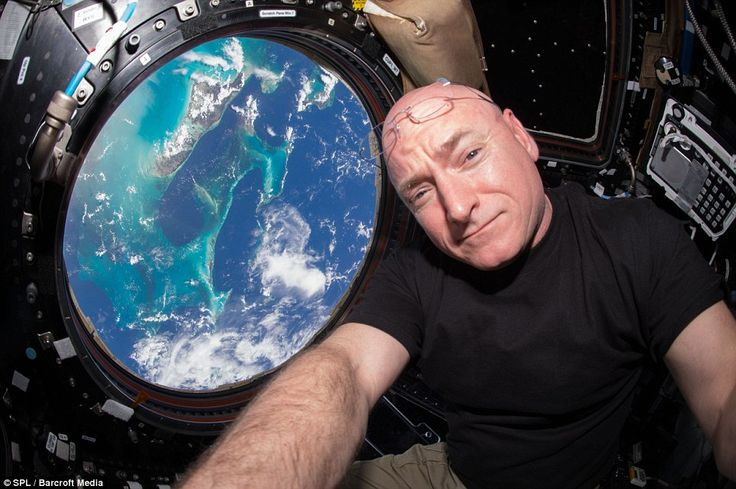 Nasa astronaut Scott Kelly (pictured) is among the astronauts to have taken stunning images of Earth from space over the past year