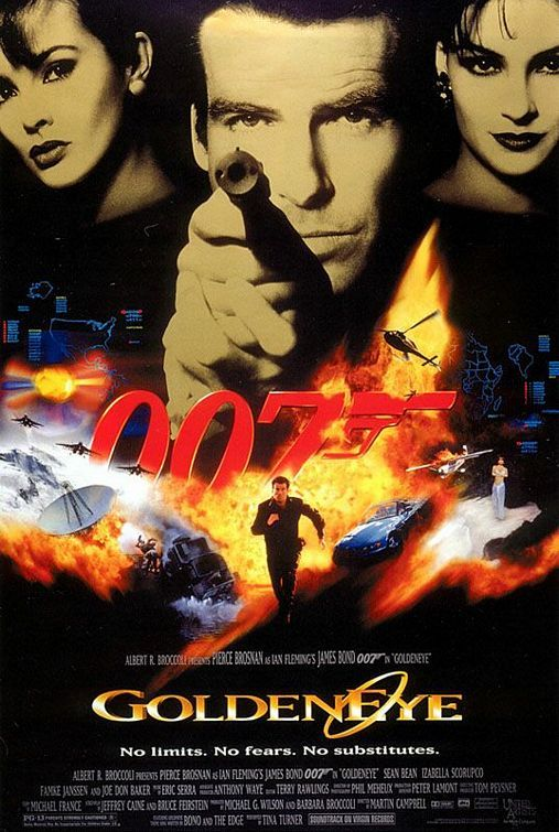 """007 GoldenEye"" > 1995 > Directed by: Martin Campbell > Action / Crime / Thriller / Glamorized Spy Film / Action Thriller"