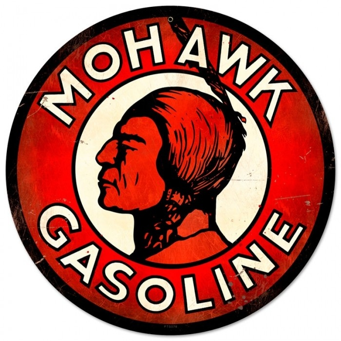 Vintage and Retro Wall Decor - JackandFriends.com - Retro Mohawk Gasoline Tin Sign LARGE, $99.97 (http://www.jackandfriends.com/vintage-retro-mohawk-gasoline-metal-tin-sign/)