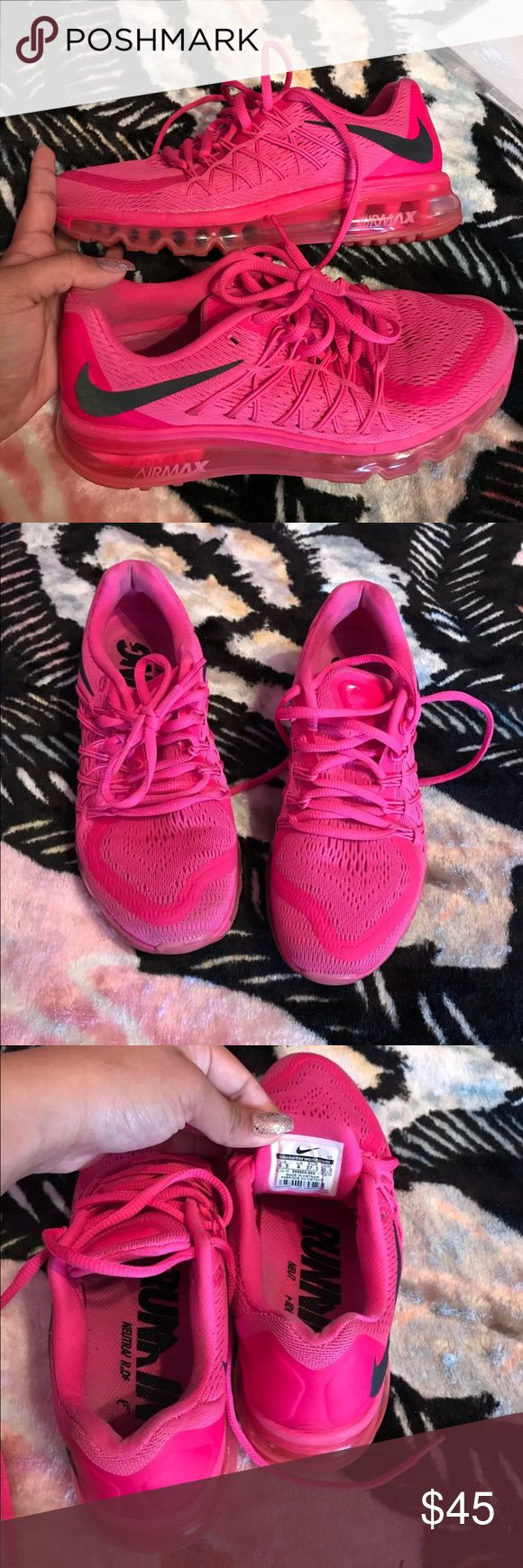 Nike air max A bit dirty but none the less in great conditions. Pink color 6.5 woman Nike Shoes Sneakers