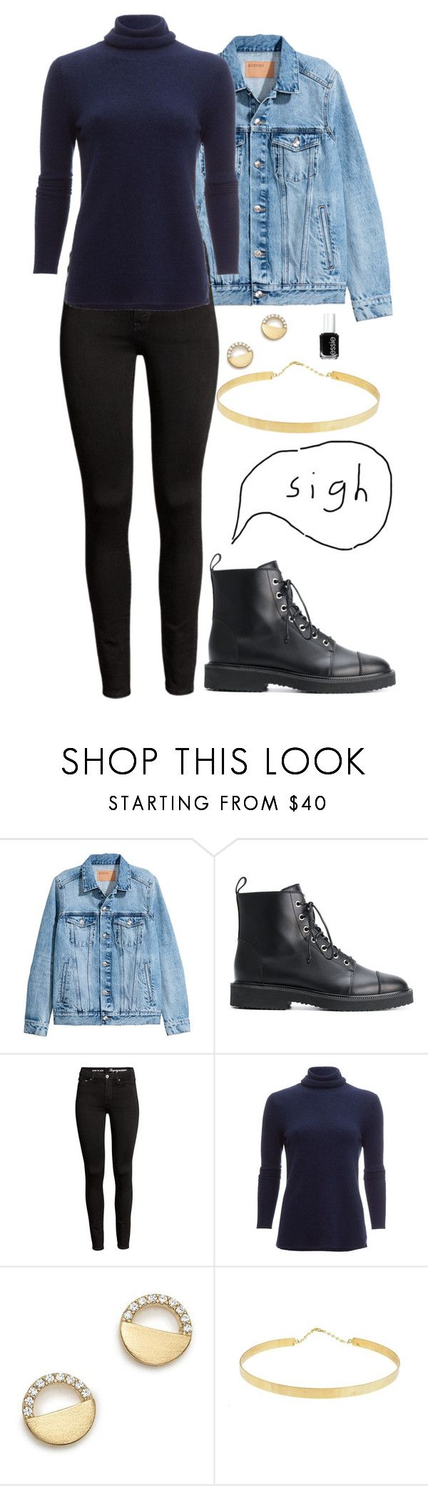 """Sunday 25.02"" by garz on Polyvore featuring H&M, Giuseppe Zanotti, White + Warren, Bloomingdale's, Lana Jewelry and Essie"