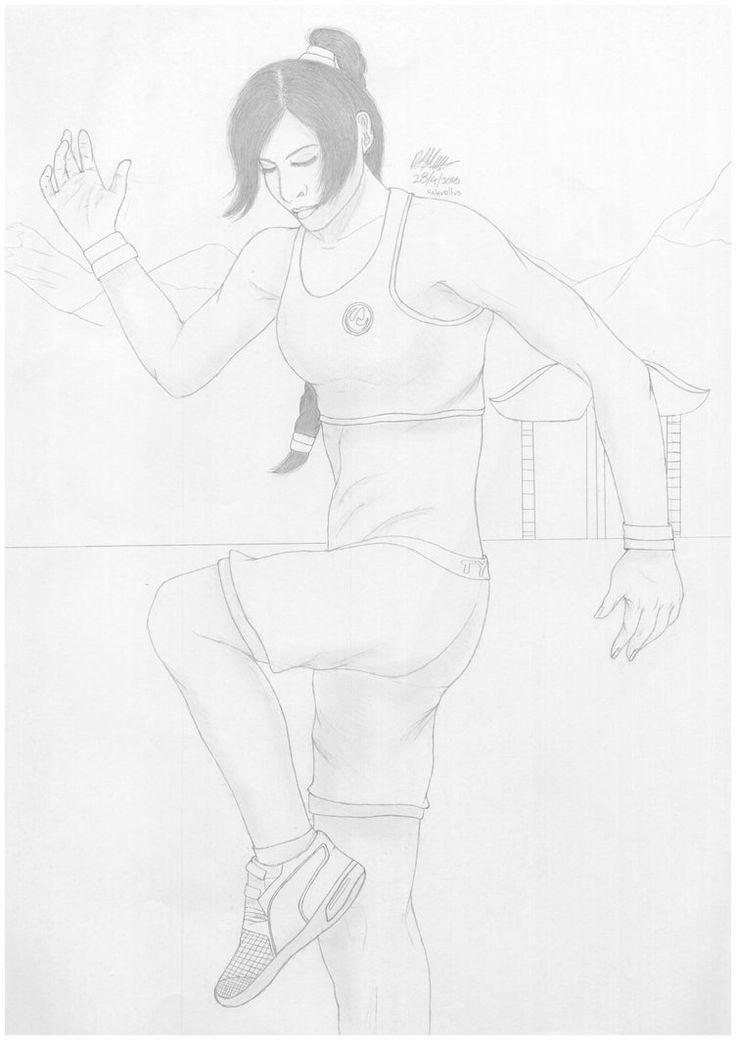 Ty Lee by Valaurelius.deviantart.com on @DeviantArt  Avatar avatar the last airbender Warrior Earth Nation Martial Art Artwork Illustration Drawn Drawing Traditional Sketch