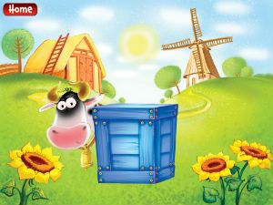 Aussie company Jump in Puddles Productions has released a new fun app for under 5s. Three clues are given for the child to work out 'who's that hiding behind the big blue box?' before the answer is revealed to be one of a number of common farm sights.