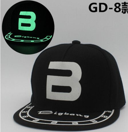 kpop BIGBANG luminous cap men and women baseball cap cap hat flat fluorescent hip hop Glow hat gorras planas k-pop