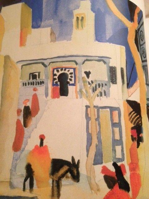 Paul Klee  Le voyage en Tunisie (1914) / avec le systeme d'agencement chromatique, il veut créer une MUSICALITE CHROMATIQUE
