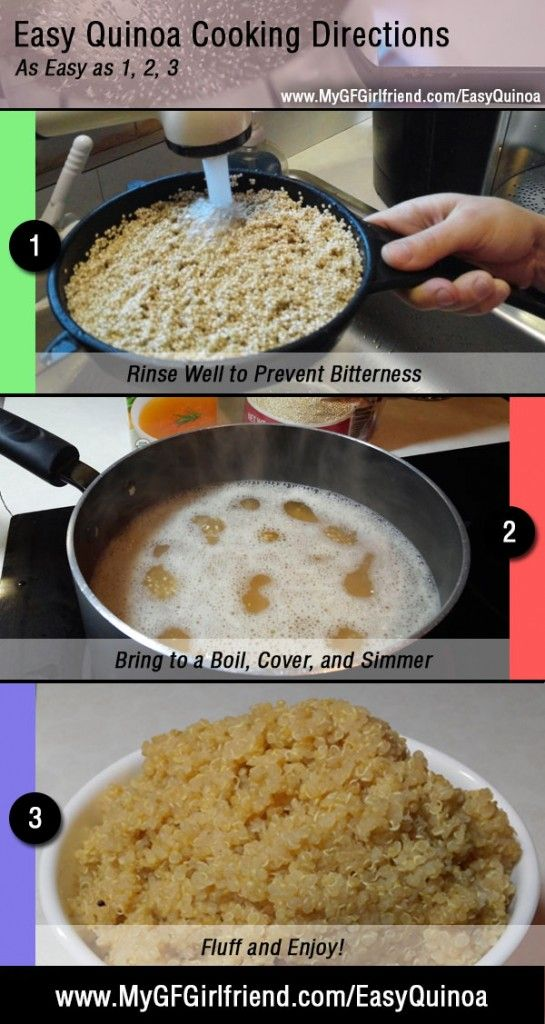 Quinoa: The BEST Grain Free Gluten Free Rice Alternative. These Simple Quinoa Cooking Instructions Produce Perfect Quinoa Every Time.