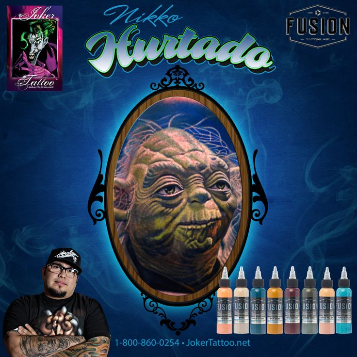 Check out this Fusion Tattoo Ink Set created by the world-famous Nikko Hurtado! Joker Tattoo Supply has these colors and a whole lot more! Come check them out.
