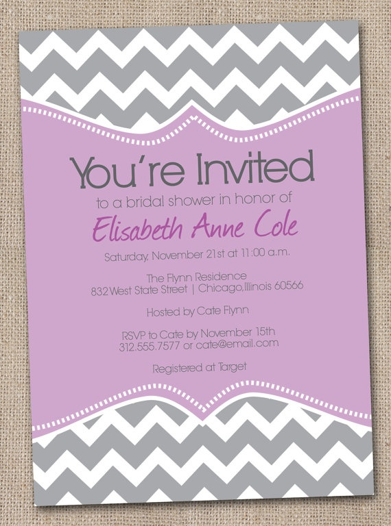 27 best bridal shower invitations images on pinterest bachelorette printable bridal shower invitations purple by inkobsessiondesigns stopboris