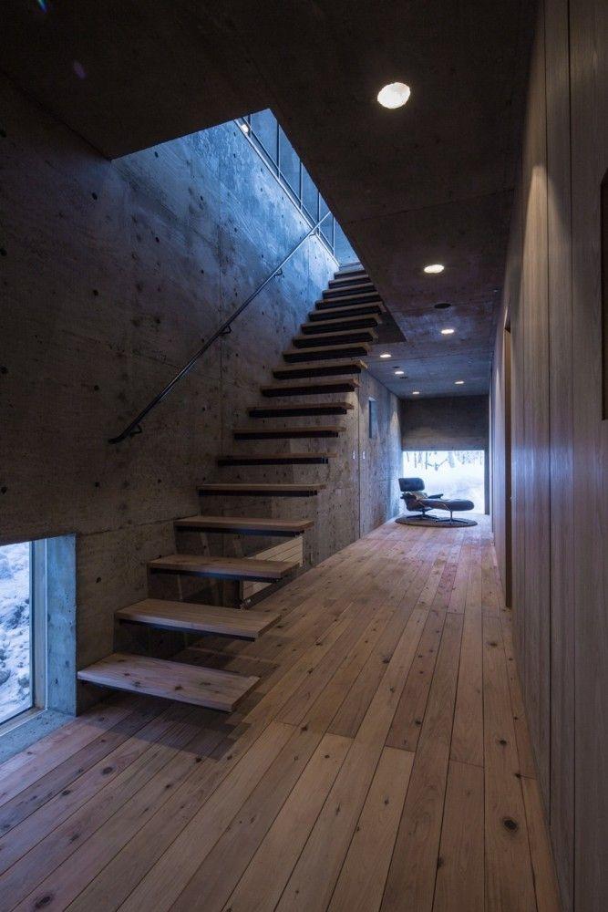 L House. Reenforced concrete. Farmhouse floors.