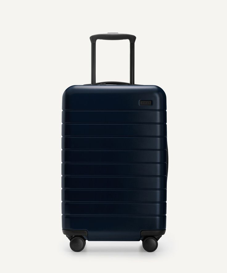 The Away Carry-On // The perfect carry-on, with an unbreakable (and super light) shell, included battery, and four 360° spinner wheels. Sized to fit on all major airlines.