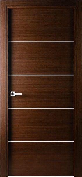 $530 Mia Contemporary Italian Wenge Interior Single Door with Decorative