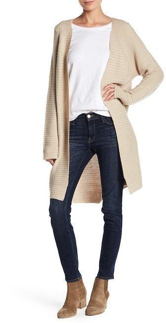 301cb2f0e Cotton Emporium Oversized Ribbed Knit Cardigan