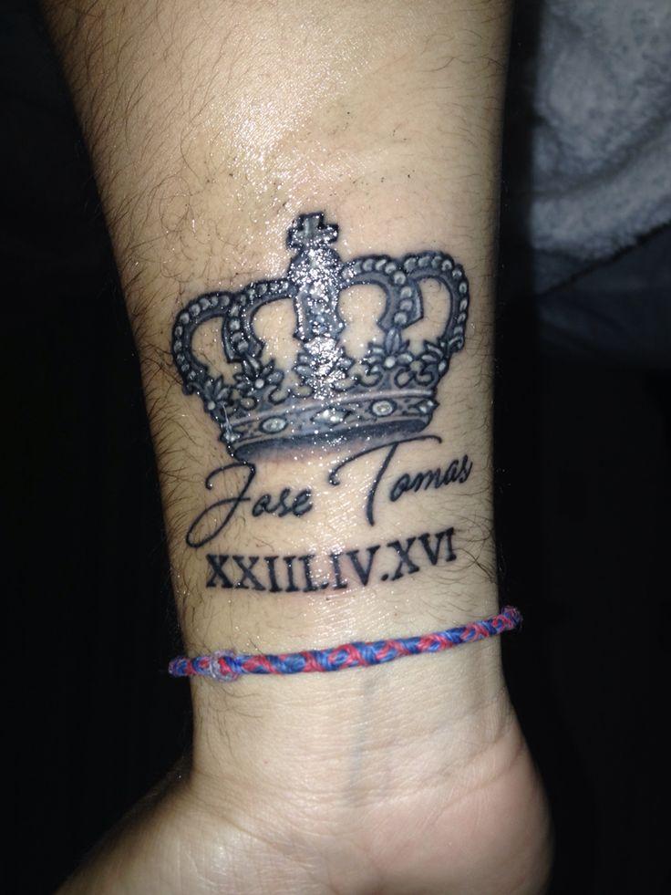 Tattoo en proceso de curación, corona, príncipe, rey, José Tomás