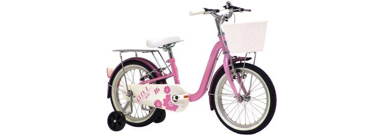 """City 1 Barn - Flickcykel 3-5 år med stödhjul - 16"""""""