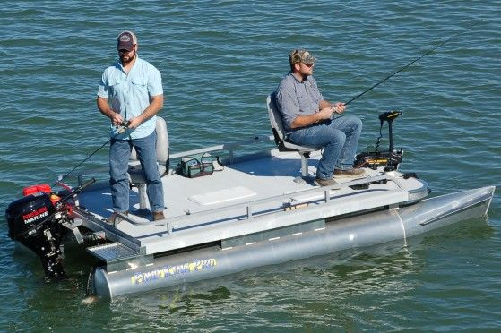 The pond king pro has the capacity for up to a 15 hp for Small fishing boats for ponds
