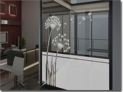 Milchglasfolie Pflanzen: Sichtschutz mit Pflanzenmotiven