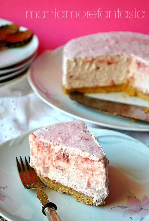 Torta fredda yogurt e marmellata | dolci senza cottura