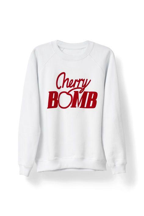 Jefferson Isoli Sweatshirt, Cherry Bomb, Bright White