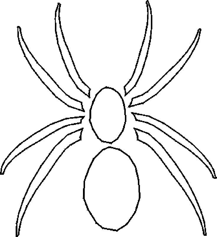 Happy Halloween! 9 Free Printable Stencils: Free Halloween Stencil: Spider 2