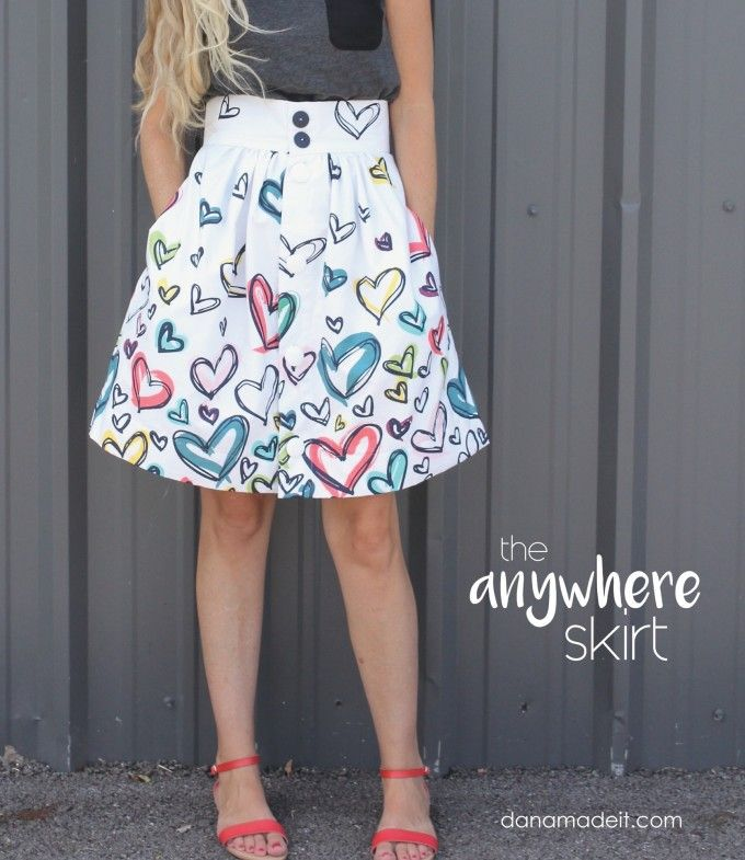 The Anywhere Skirt from MADE in Happy Home Fabrics