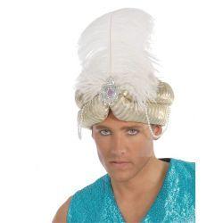 Turbante Marajá Plata/Oro  En Mercadisfraces, podrás comprar tus disfraces de Navidad baratos y originales para tus fiestas más navideñas o representaciones escolares.