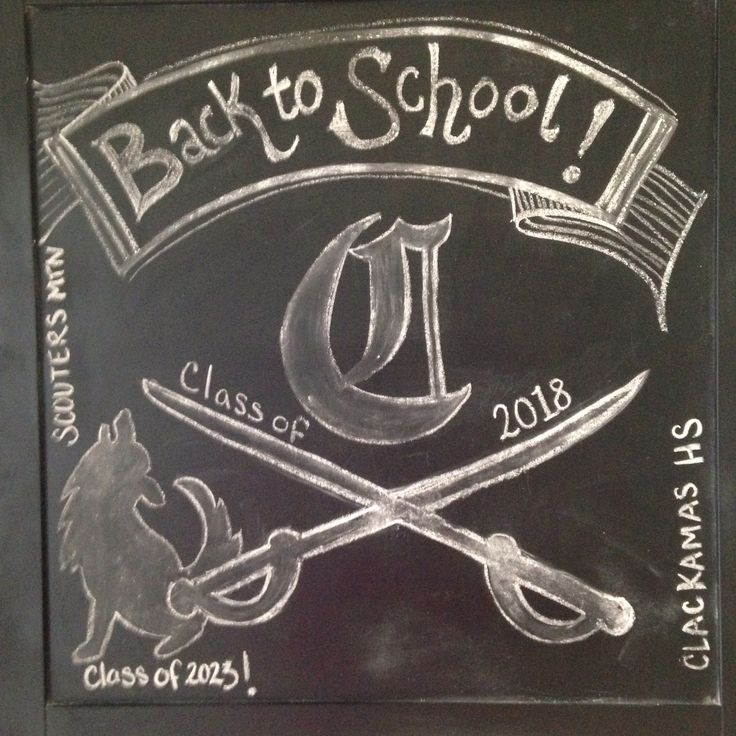 Scouters mountain elementary   and Clackamas High School back to school chalkboard