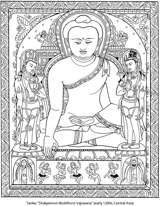 Tibetan Designs Coloring Book Dover Publications