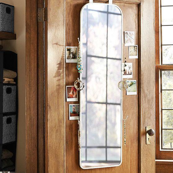 Over The Door Full Length Mirror  Dorm Room Ideas  Full length mirror on door Full length