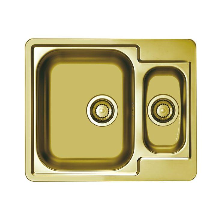 CHIUVETA DE BUCATARIE ALVEUS MONARCH COLLECTION LINE 50 GOLD ,LA NIVELUL BLATULUI ,INOX - Iak