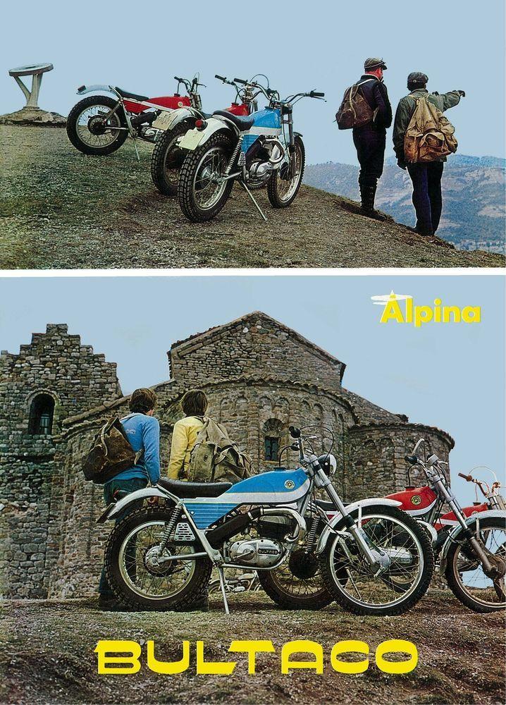 BULTACO Brochure Alpina 250 Trials 1971 1972 1973 1974 Catalog REPRO