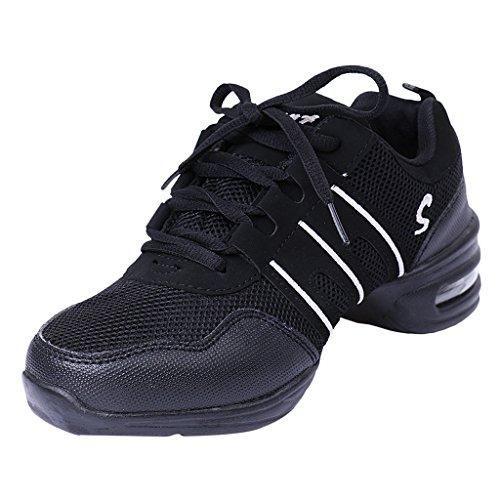 Oferta: 13.42€. Comprar Ofertas de 1 Par Zapatos Deportivos Cómodos Modernos Zapatos De Baile De Jazz Hip Hop Para Mujeres - Negro, 38 barato. ¡Mira las ofertas!