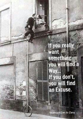 I will not find an excuse.