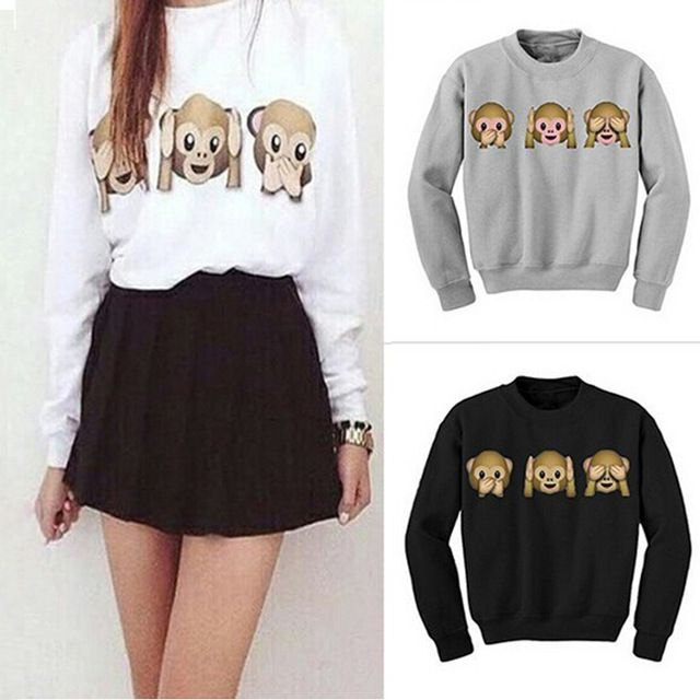 Check current price Women Hoodies Long Sleeve O-Neck Women Sweatshirt 3D emoji printed Women Clothing Fleece Hoodie Plus Size Women Causal Pullover just only $10.49 with free shipping worldwide  #womanhoodiessweatshirts Plese click on picture to see our special price for you