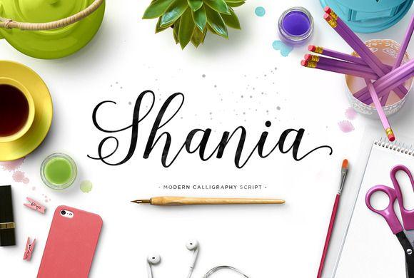 Shania Script (30% Off) by Seniors on Creative Market