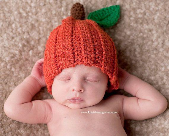 PUMPKIN FALL HALLOWEEN Crochet Hat Baby Newborn 0 3 6 12 Months 1T 2T 3T 4T Child Teen Adult