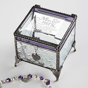 Create lasting Wedding memories with the The Happy Couple Vintage Engraved Jewelry Box. Find the best personalized wedding gifts at PersonalizationMall.com