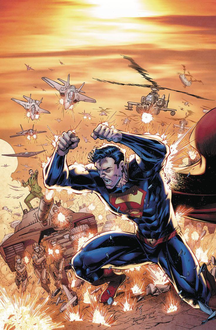 """ACTION COMICS #999El General"""". Viaje de Superman a través del tiempo se ha estrellado a un alto y al final de la línea que general Sam Lane se encuentra cara a cara por primera vez con su nieto, Jon. ¡Hebilla para arriba, porque la reunión súper familiar más torpe en la historia está a punto de comenzar!"""