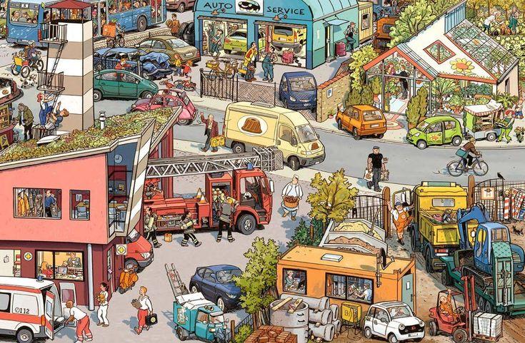 Иллюстрации, в которых хочется заблудиться: 15 работ Peter Knorr - Ярмарка Мастеров - ручная работа, handmade