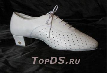 Туфли мужские свадебные с каблуком