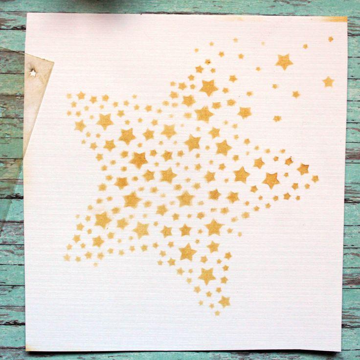 NőiCsizma | Csillagözön stencil-mini