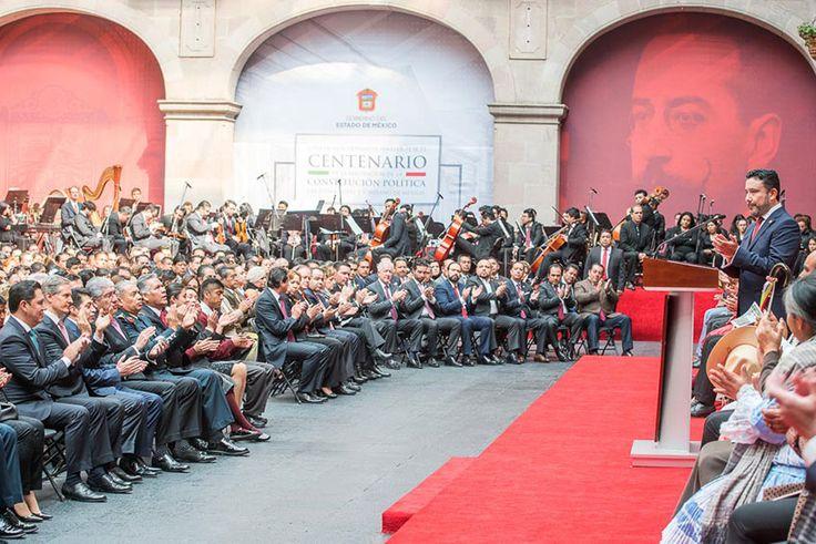 El presidente de la Jucopo participó en la ceremonia con motivo del Centenario de la Constitución mexiquense, junto al gobernador Alfredo del Mazo y el presid