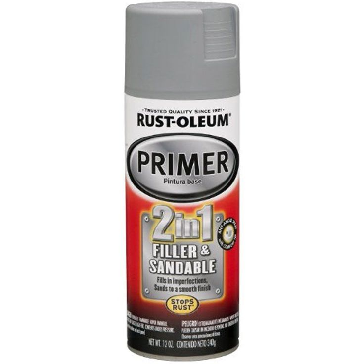 Rust-Oleum Automotive Primer Spray Paint 2 in 1 Filler and Sandable Gray 12 Oz. #RustOleum