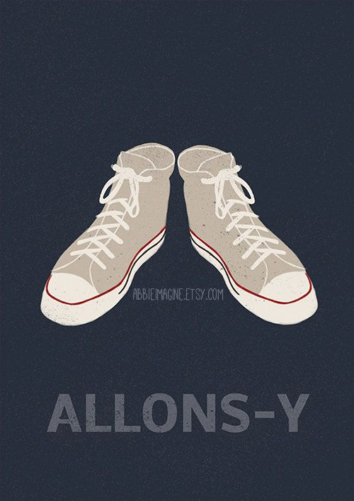 Allonsy Tenth Doctor Doctor Who Converse by AbbieImagine on Etsy