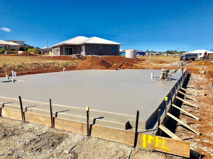 Stage 1 Of The Building Process Is Marking Out The Buildings Position On The Block We Then Proceed To Dig The Sub Dr New Home Builders Home Builders Toowoomba