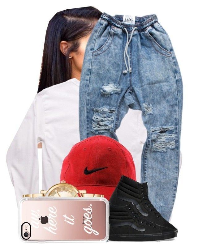 """""""118"""" by jalay ❤ liked on Polyvore featuring NIKE, Vans, Michael Kors and Casetify"""