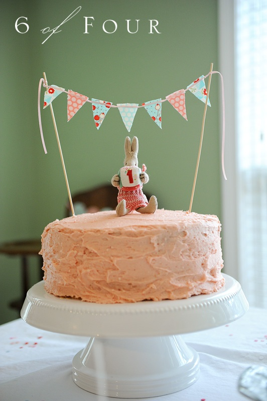 bunny and bunting- more birthday bunting? Yes please!